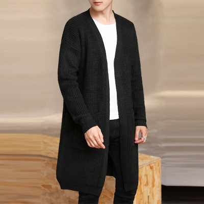 Tricot Jeunes Cardigan Chaud Col Hxh206 grey black Couleur V 2019 Solide Veste creamy Simple Navy Casual white Tinteen Green army De Hommes 7PqA5w
