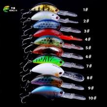 HENGJIA 12G 9CM Fishing Lures rock Crank Bait Crankbait Minnow  Bass Treble Hooks swim Hard lure baits wobbler Long Big Tongue