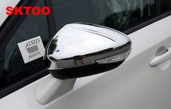 SKTOO voiture Stying Fit pour Peugeot 301 308 408 508 2008 3008 308 S porte côté aile miroir Chrome couverture vue arrière bouchon accessoires