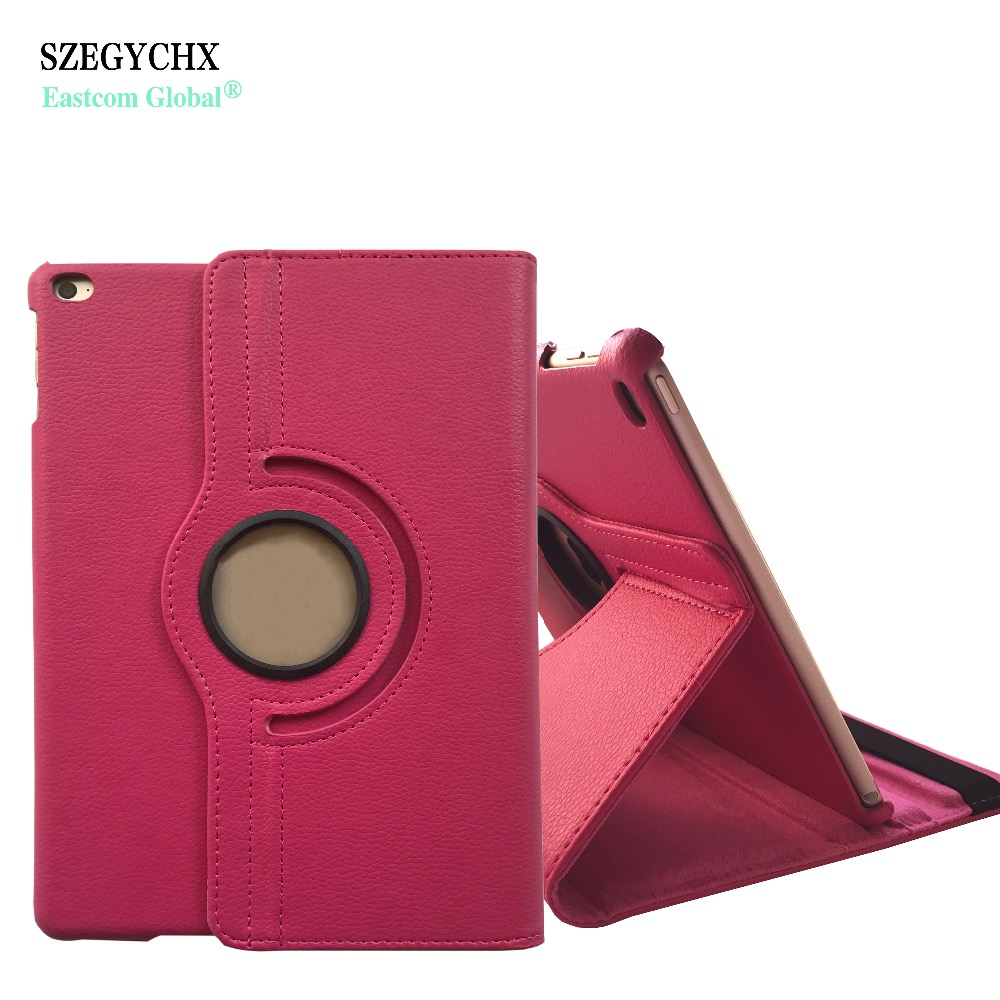 SZEGYCHX,For iPad Air 1,A1474 A1475 A1476,Air2,A1566 A1567,Case 360 Rotation PU Leather Smart Flip Cover with Stand Function cover for ipad air 2 a1566 a1567 szegychx pu leather smart cover stand case shell tablet case for ipad 6 for ipad 9 7 inch