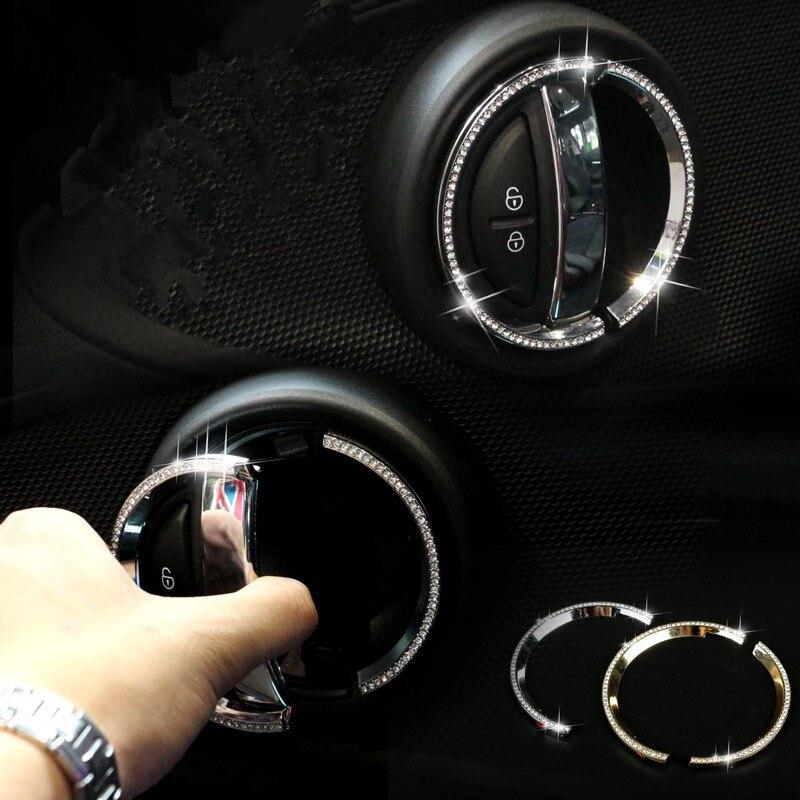 New luxury crystal interior door car accessories for mini Mini countryman interior accessories