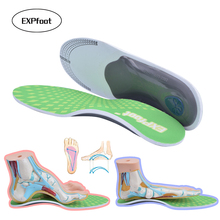 EXPfoot High Quality Orthotic Gel High Arch Support Insoles Gel Heel Pad 3D orthopedic Plantar Fasciitis Supports 35-48 size