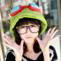 2016 Winter Cute Cartoon LOL Teemo Hats For Women and Men One Size Cosplay Party Warm Hat Unisex Army Green Frog Hats Cap Gorras