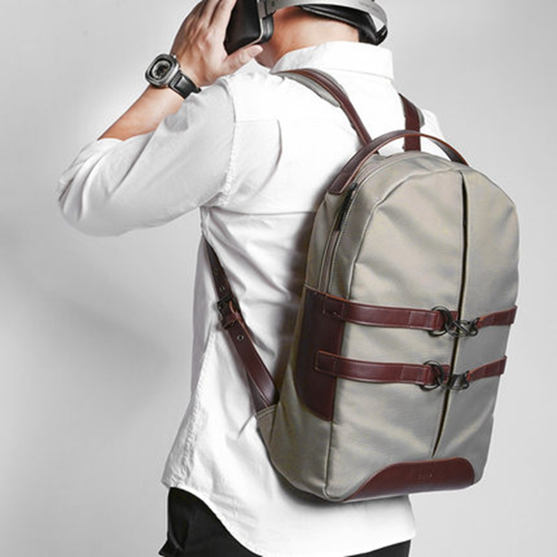 цена 2018 D-park Canvas Unisex Backpacks Brand 15 Inch Laptop Notebook Waterproof Back Pack School Backpack Bag For MacBook