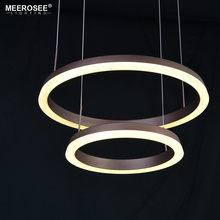 Modern 2 Rings LED Pendant Light Fixture LED Lustre Lamparas de techo Pendant Lamp For Living Dining room bedroon Kitchen Lights creative simple modern led pendant lights for living room dining room kitchen lampara de techo pendant lamp indoor home lighting