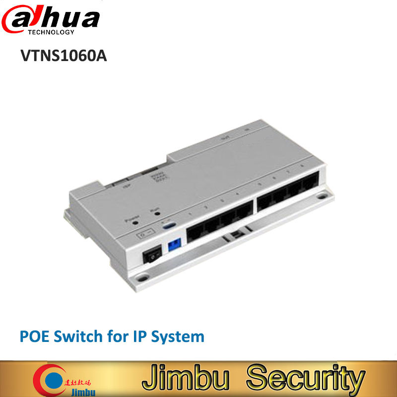 Dahua POE Switch VTNS1060A with DC24V 2A power adapter for IP System dahua IP Video door phone POE switch VTNS1060A without logo dahua hanging mount adapter pfa100