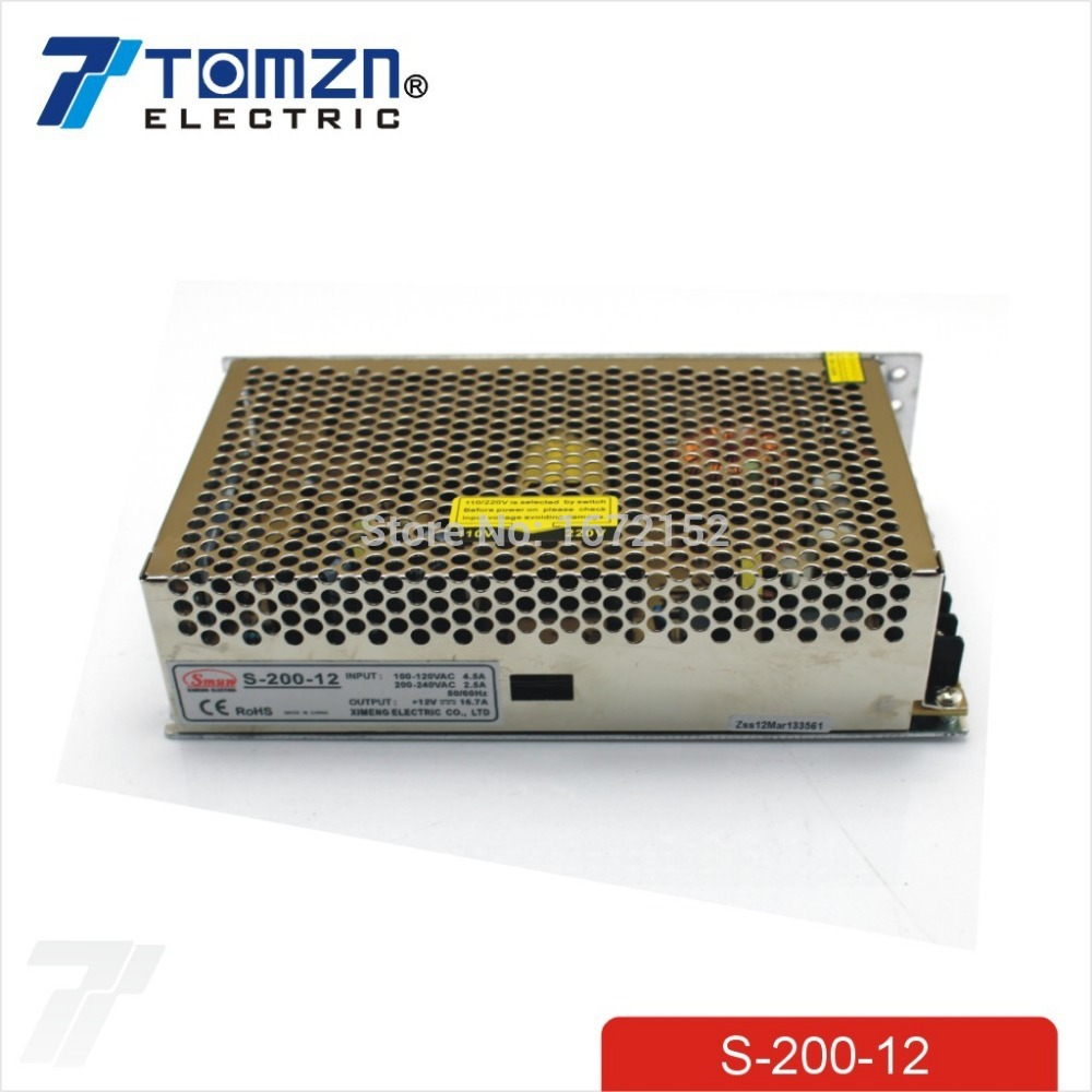 200W 12V 16.5A Single Output Switching power supply for LED Strip light AC to DC image