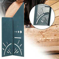 T-type Rulers 3D Mitre Angle Square Size Measuring Gauges Woodwoking Tools Hole Scribe Marking Line Ruler Carpenter Hand Tools