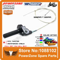 CRF KLX Pister Pro 50 70 110 CNC Irbis TTR Alloy Quarter Turn Quick Twister With Throttle Cable Dirt Pit Bike Free Shipping