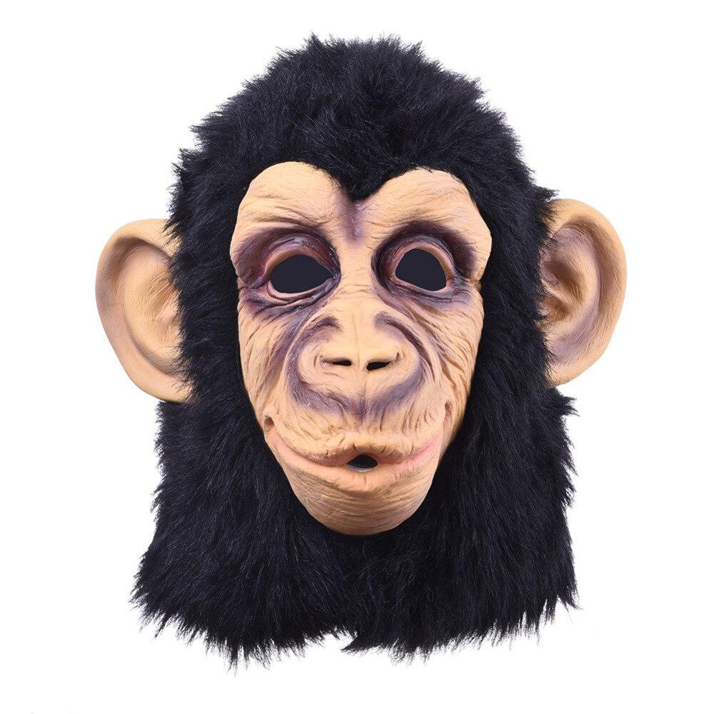 Jaunākais Lifelike Monkey Orangutan Full Face Mask Halovīni dāvanas Videi draudzīga daba Lateksa atdzist maska Cosplay pusei saģērbt