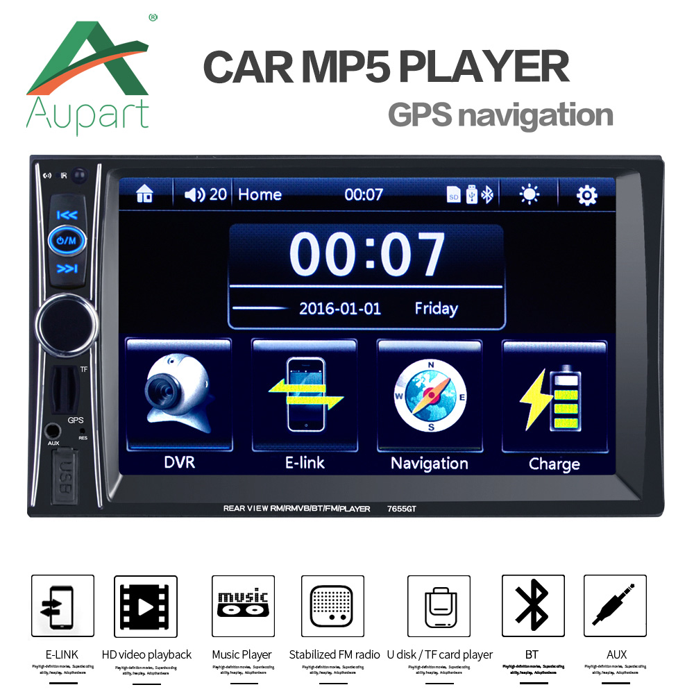 """NEW HD 6.6"""" Touch Screen Car Monitor 2 DIN Stereo Car Auto"""
