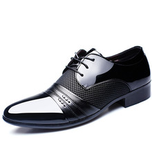 Sneaker Leather Shoes Man Dress Pointed Commerce Men Formal Dance Crocodile Ventilation