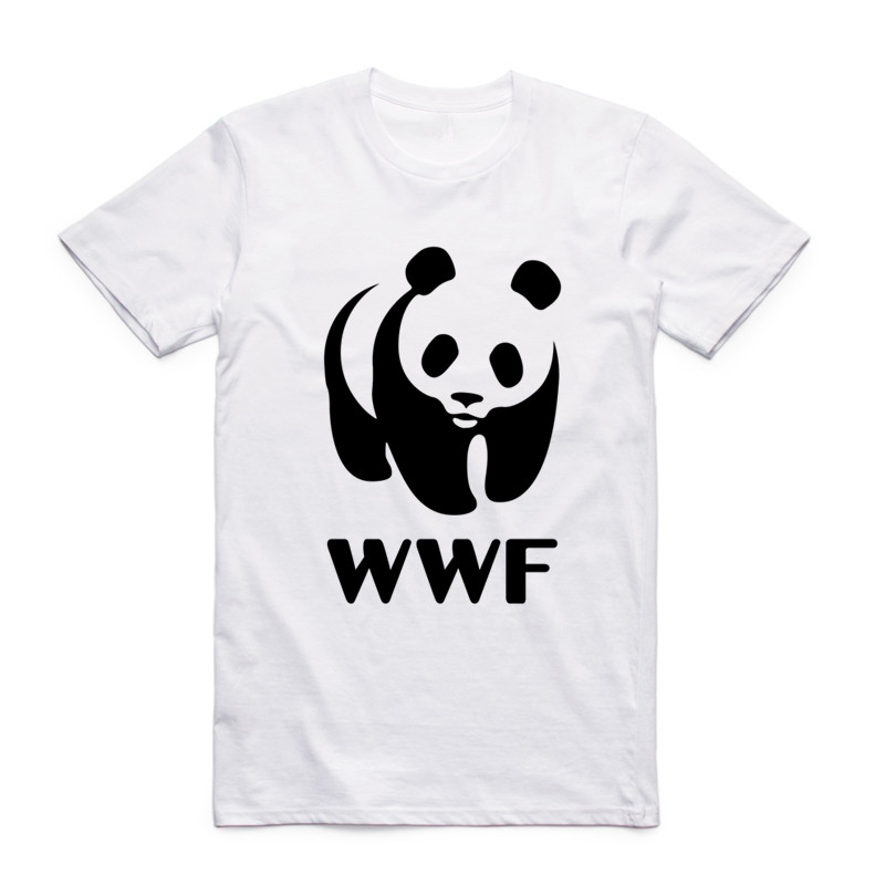 Fashion Men Print WWF <font><b>Sex</b></font> Panda Comedy <font><b>Funny</b></font> <font><b>T</b></font> <font><b>Shirt</b></font> O-Neck Short Sleeves Summer Hipster Streetwear Cool Kawaii WTF Top Tee image