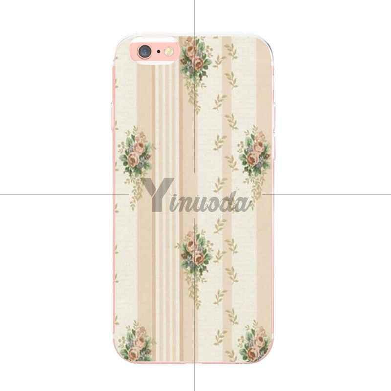 Yinuoda полосатый розовый простой цветок Специальное предложение Роскошный Вертикальный чехол для телефона iPhone XSMax 8 7 6 6S Plus X XS XR 5 5S SE Coque