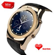 2016 Nuevo Arrivel Ronda reloj Inteligente SmartWatch Apoyo SD SIM A8S tarjeta Bluetooth WAP GPRS SMS MP3 MP4 USB Para iPhone Y Android