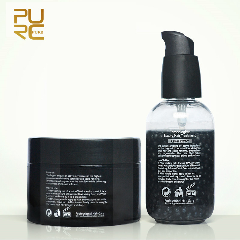 PURC Luxurious Caviar Extract Chronologiste Hair Treatment Set Make Hair More Soft And Smooth Hair Care Set Products 180ml