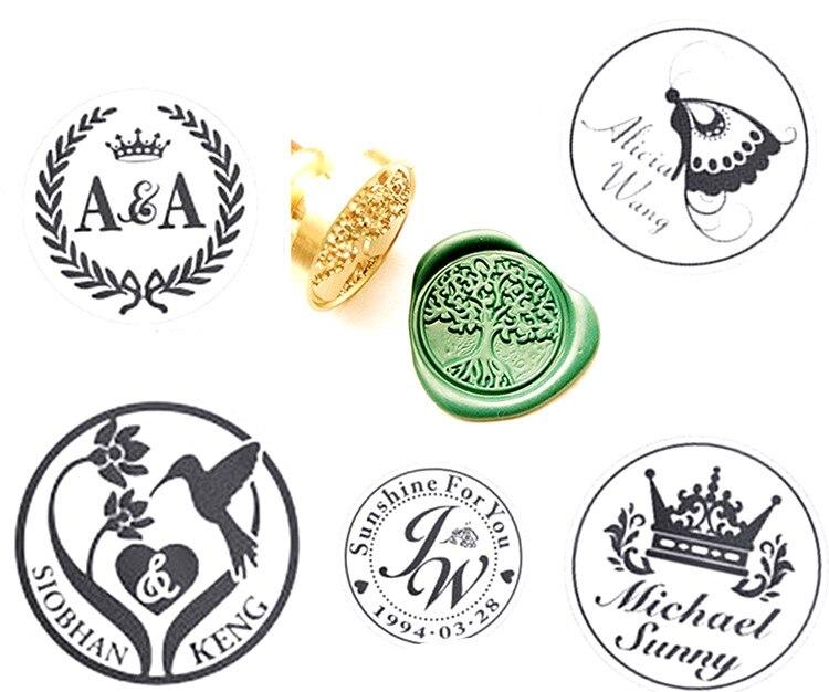Vintage Custom Personalized Picture Wedding Invitation Wax Seal Stamp 1 design laser cut white elegant pattern west cowboy style vintage wedding invitations card kit blank paper printing invitation