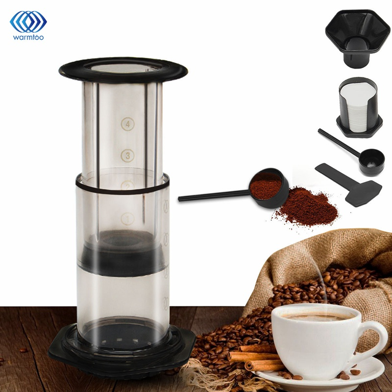 Coffee Maker Pot French Hand Portable Pressure Machine Coffee Grinders 350 Filter Paper Easy to Clean Travel Household household italian semi automatic pump coffee machine pressure steam cappuccino coffee maker coffee pot cm 4656