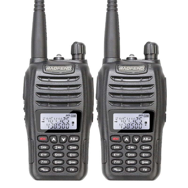 2PCS Lot Original Brand New Baofeng UV B6 Dual Band Portable Ham Transceiver Walkie Talkie