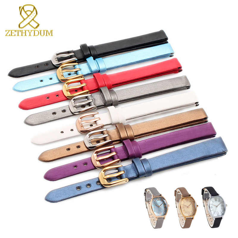 Asli Bahan Kulit Gelang Wanita Fashion Gelang Jam Lustre Jam Tangan Mini Band 6 Mm 8 Mm 10 Mm Small Watch tali