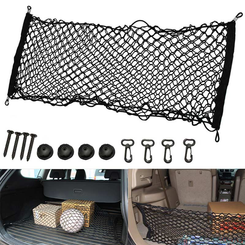 new universal car interior trunk cargo storage organizer net bag mesh pockets luggage holders. Black Bedroom Furniture Sets. Home Design Ideas