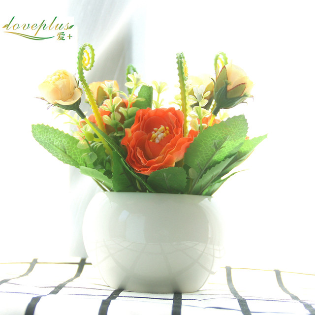 Online Shop Loveplus Little Lotus Silk Artificial Flower Fake