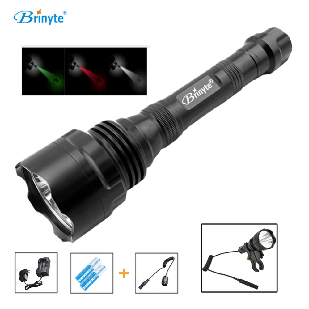 все цены на Brinyte S48 High Power 1500 Lumens 5 CREE XR-E Q5 LED Police Security Flashlight Military Torch Light with Remote Switch 18650