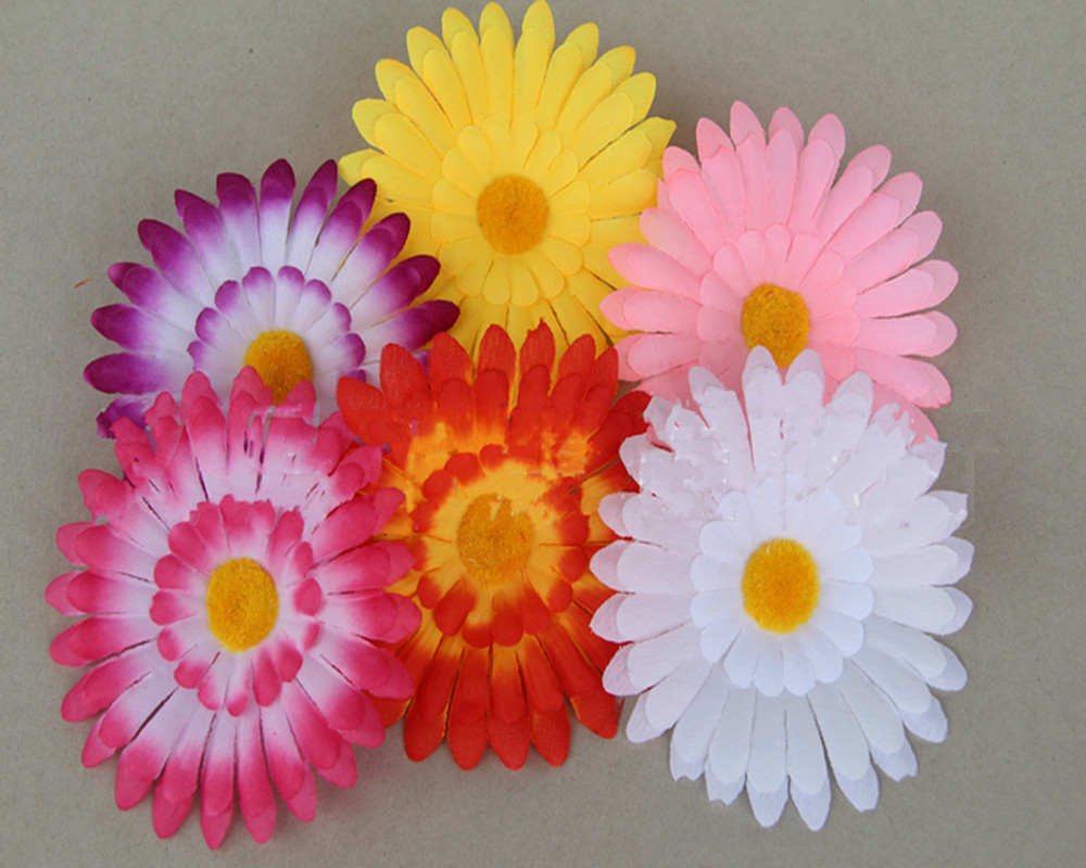 Aliexpress Buy 200pcs Artificial 115cm 3 Layers Silk Daisy