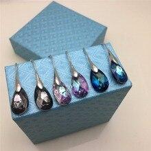 MS Betti, новинка года, новогодние подарки в коробке для девочек и женщин, серьги-капли в форме груши с кристаллами Swarovski