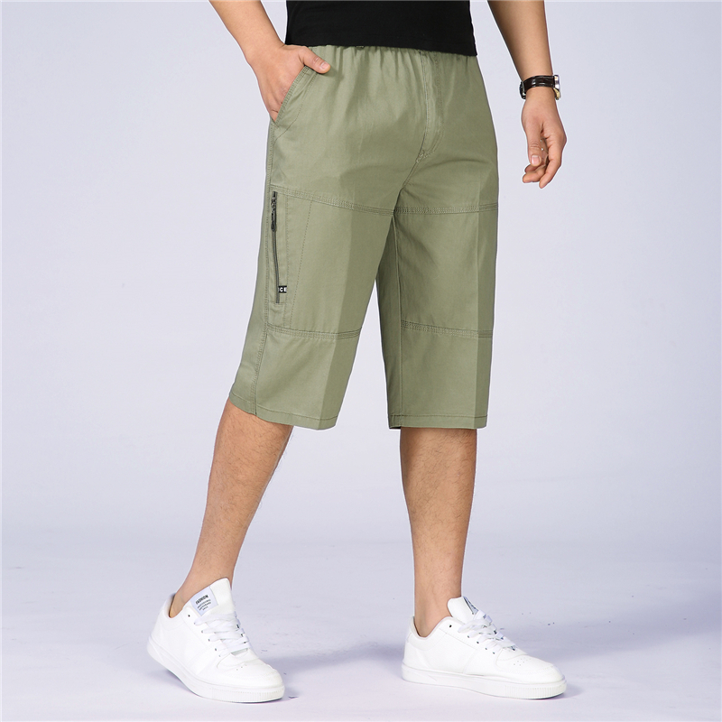 Mens Military Cargo Shorts New Summer Casual Cotton Loose Shorts Men Army Tactical Baggy Knee-Length Short Homme Plus Size 6XL