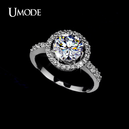 UMODE 2016 Stunning Prong Setting 2ct Hearts & Arrows cut ...