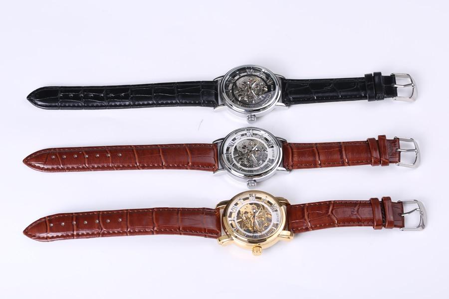 lüks marka moda kişi skeleti üzüm saatı mexaniki mexaniki - Kişi saatları - Fotoqrafiya 5