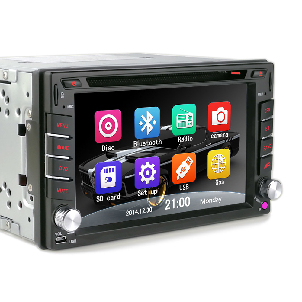 car radio 2 din DVD player GPS navigation computer Bluetooth car system  free maps of TF card 2DIN CD Free shipping