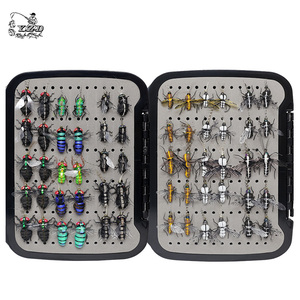 Image 1 - Realistic Mosquito House Fly Fishing Flies Set  60 pcs  Insect Baits for Trout Muskie  Dry Fly Lure Kit Flyfishing