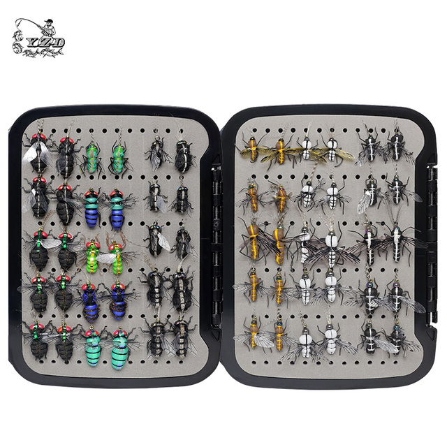 Realistic Mosquito House Fly Fishing Flies Set  60 pcs  Insect Baits for Trout Muskie  Dry Fly Lure Kit Flyfishing
