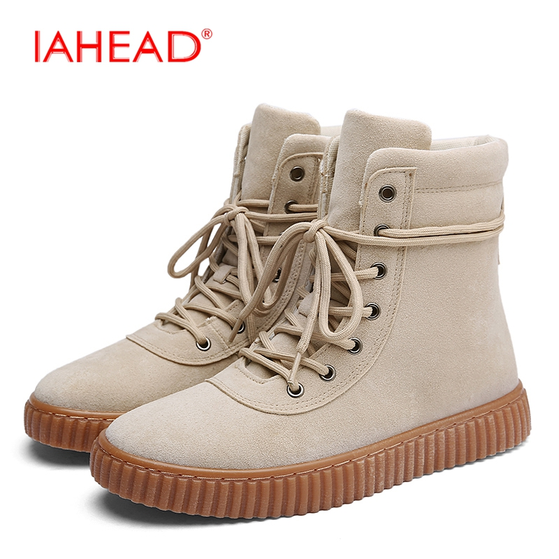 IAHEAD Men Boots New Popular Style Ankle Boots Lace-Up  Casual Shoes Men Winter Men Leather Casual Boots MH591 iahead men boots men chelsea boots winter lace up flats casual shoes men leather ankle boots chaussure homme de marque mh598