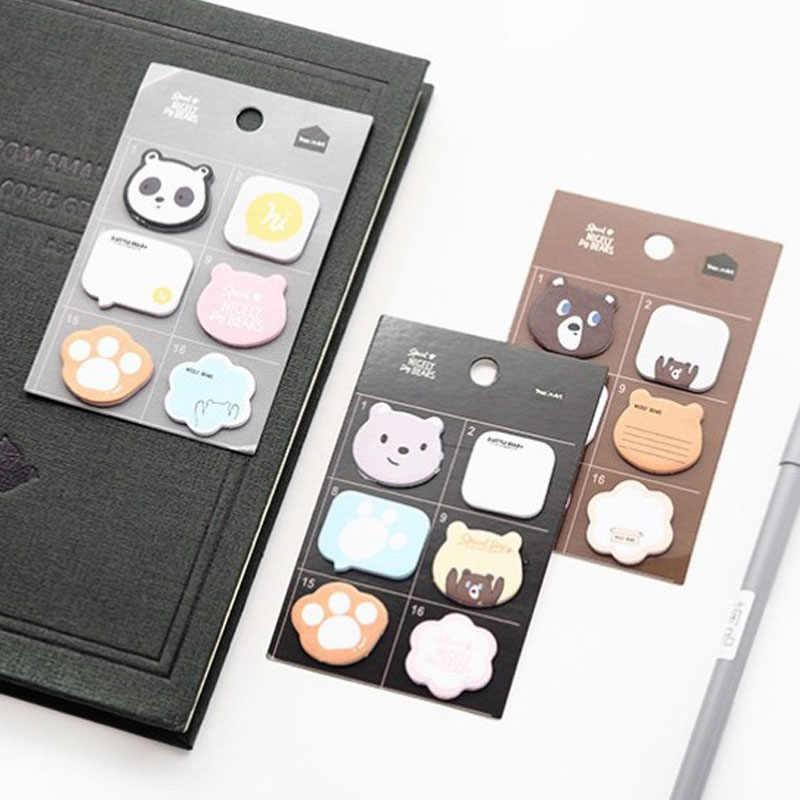 1 шт. мини Голый медведь Блокнот N Times Sticky Notes Papelaria школьные принадлежности наклейка-закладка Товары для офиса и школы