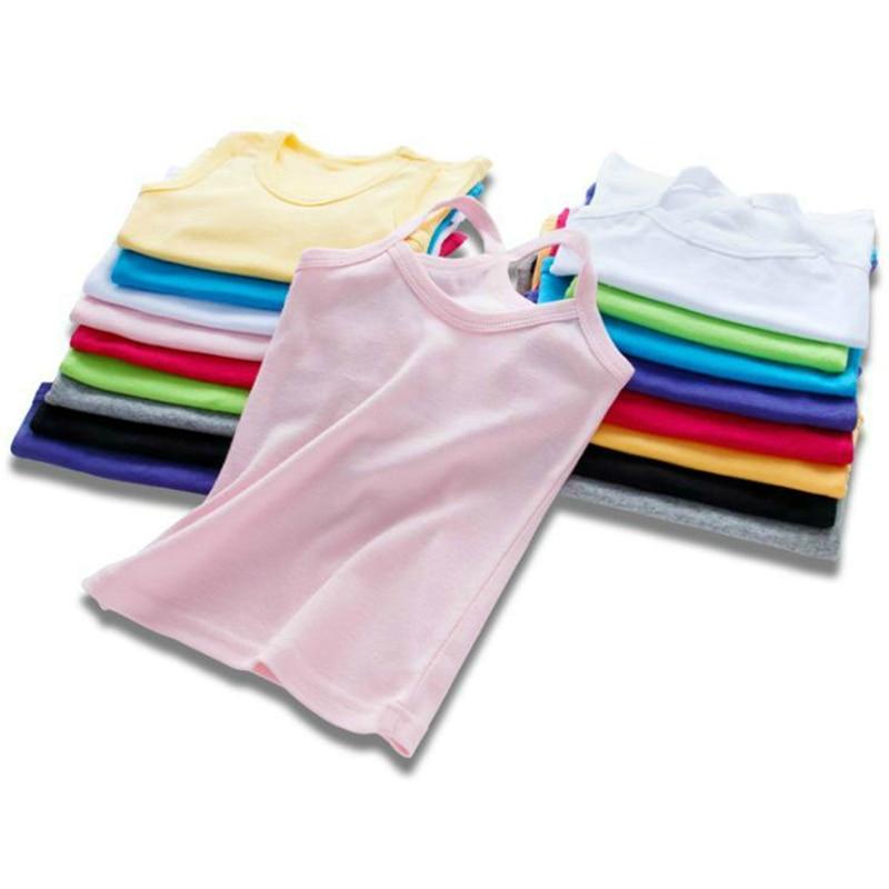 Ropa para niños chalecos para niños ropa interior para niñas camisolas camisetas de verano de algodón sólido suave tanques para camisetas para niños pequeños camiseta Mallas de bebé MILANCEL a rayas para bebés y niños leggings ajustados leggings coreanos para niñas