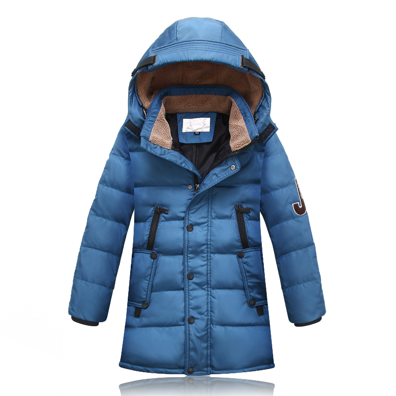 2016 Winter Child Boy Down Coat Medium-Long Down Child Thickening Outerwear Down Jacket With Hood
