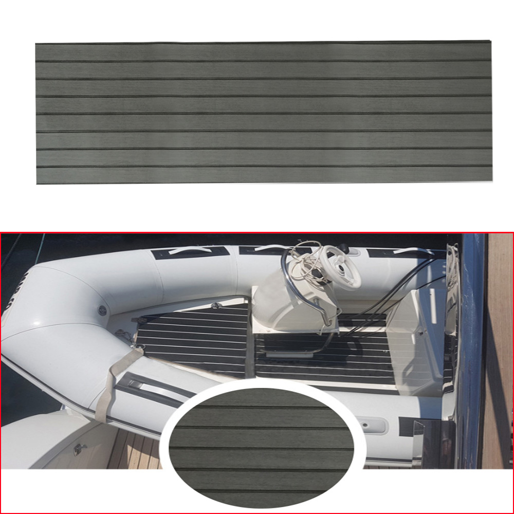 45*240*0.6cm EVA Teak Sheet Car Marine Boat Flooring Non-slip Mat Yacht Inflatable Boat Decking Self-Adhesive Anti Skid Pad