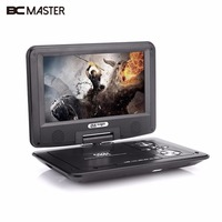 BCMaster 9inch Swivel Screen HD DVD Media Player Support TV Game Radio U Disk SD Card
