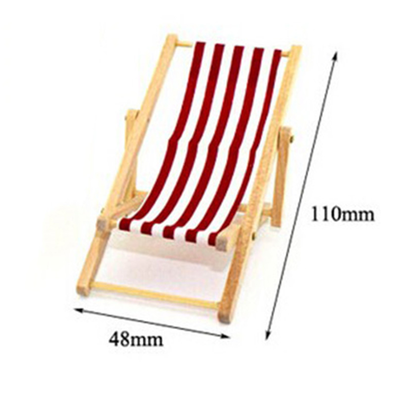 how to make a wooden beach chair high floor mat new diy dolls house 1 12 miniature foldable craft deckchair lounge doll decal accessory for baby girls in accessories from