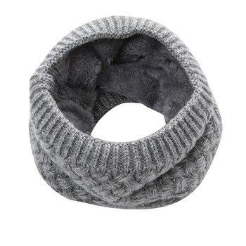 модные мужские теплые зимние шарф женщи вязаный воротник шарф