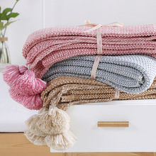 Super Soft Knitted Blankets Cotton Throws For Sofa Couch Plane 130*170CM Home Decorative Nortic Throw