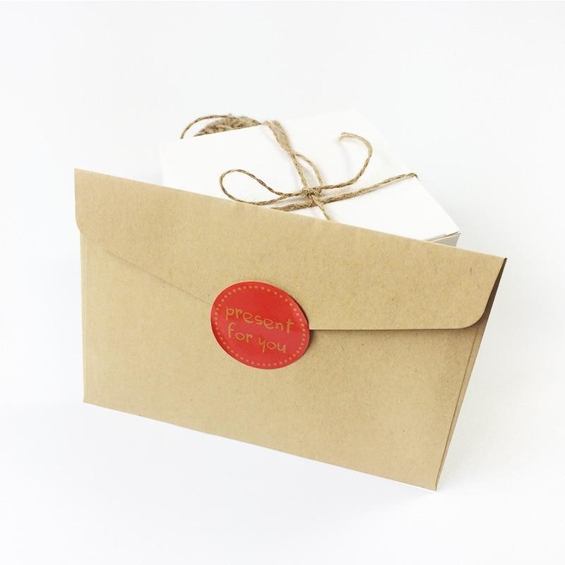 Купить с кэшбэком 90 Pcs/lot Hot Sale 'present for you' Design Sticker Labels Food Seals Gift Stickers For Wedding Seals White/Black/Red 3 Color