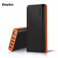 20000 mAh Power Bank Portable Charger with Flashlights 4 Dual USB Ports Quick Charge External Battery For iPhone Sumsung