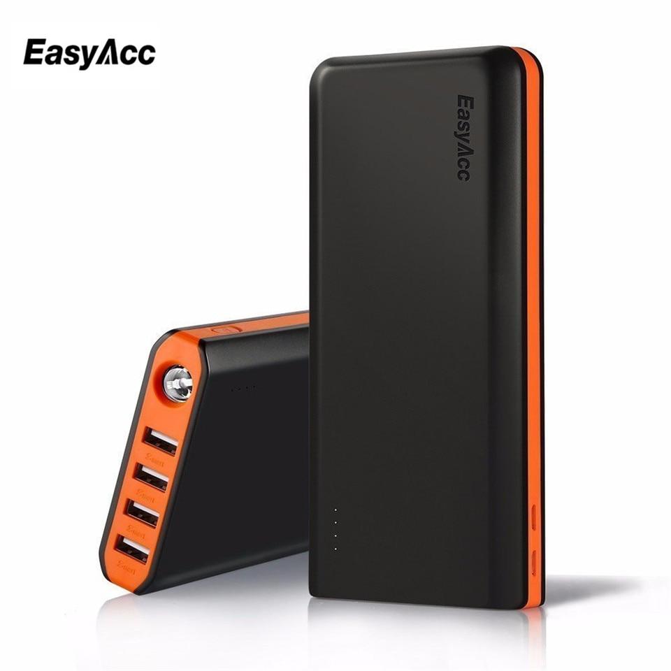 Chargeur de batterie externe Portable 20000 mAh avec lampes de poche 4 Ports USB doubles batterie externe de Charge rapide pour iPhone samsung