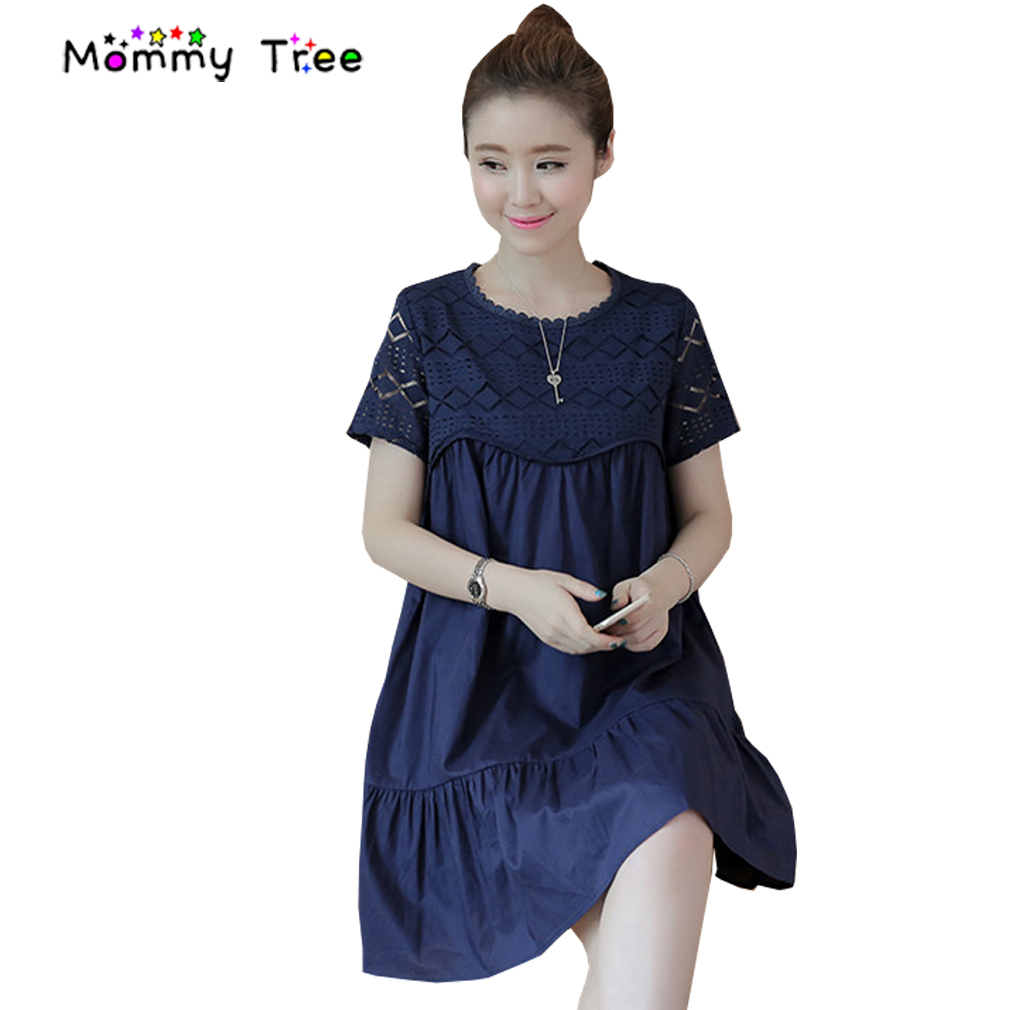 Online get cheap maternity dress white aliexpress alibaba group white blue cotton blue maternity dress 2017 summer loose a line pregnancy clothes casual maternity ombrellifo Gallery