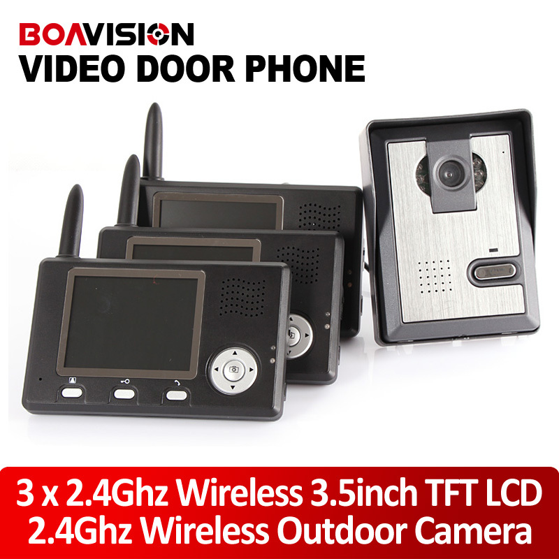 3 5 2 4g wireless video door phone intercom system for Door video camera