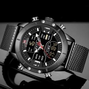 Image 3 - 新しい NAVIFORCE 男性腕時計トップの高級ブランドメンズデュアルディスプレイ軍事スポーツ男性のファッション防水クォーツ腕時計